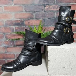 Fiorentini + Baker Eternity Leather Buckle Boots